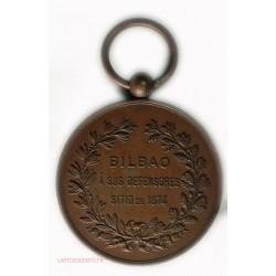 Médaille  Honor Patria y Libertad BILBAO a sus defensores 1874