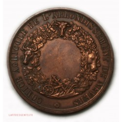 Médaille Napoléon III Comice agricole de NEVERS par A. BESCHER A. BORREL