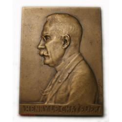 Médaille plaque Henry LE CHATELIER, science par R. LAMOURDEDIEU 1921
