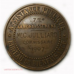 Médaille ASSISTANCE PUBLIQUE PARIS 1907, 7° par O.ROTY