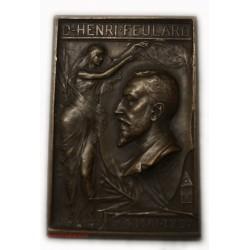 Médaille plaque Dr Henri FEULARD 1897 par Maurice BOUVAL