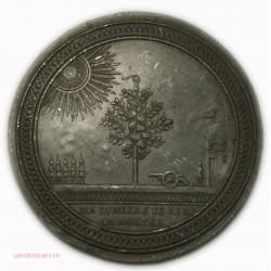 Médaille Louis XVI Révolution, ma lumière te rent immortel, lartdesgents.fr