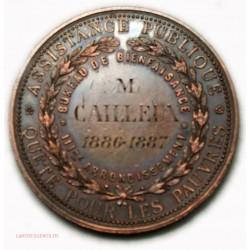 Médaille ASSISTANCE PUBLIQUE Pauvres1886-87 par A. LESAIDE
