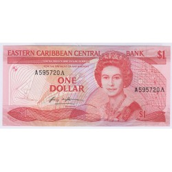BILLET DES CARAIBES 20 DOLLARS 1988 L'ART DES GENTS NUMISMATIQUE AVIGNON