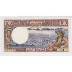 BILLET NOUVELLES HEBRIDES 100 FRANCS 1972 NEUF L'ART DES GENTS AVIGNON