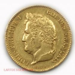 Louis Philippe Ier, 40 Francs or 1831 A  sans étoile