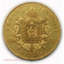 Napoléon III, 100 Francs or 1855 A, lartdesgents.fr Avignon