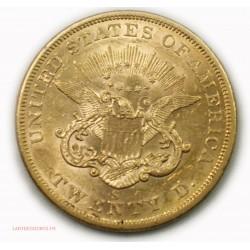 USA 20$ Dollars 1863 S San Francisco, lartdesgents.fr