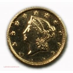 USA 1$ Dollars 1854 gold, lartdesgents.fr
