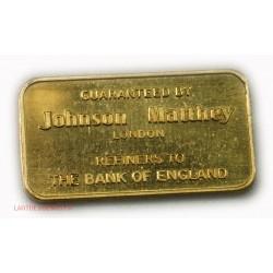 Lingotin or 999/00 24 carats Johnson Matthey London