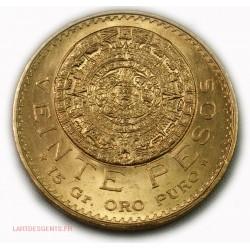 Mexique - 20 Pesos or/gold 1959, lartdesgents.fr