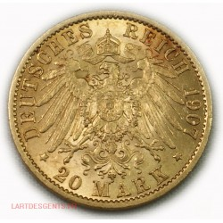 Allemagne - Prusse 20 MARK 1907 A GUILLAUME II