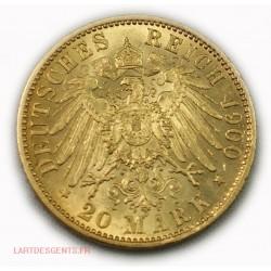 Allemagne - Prusse 20 MARK 1900 A GUILLAUME II