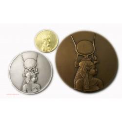 Coffret Médaille Unesco - Philae 1975 Egypte or, argent, bronze