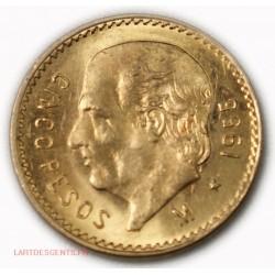 Mexique - 2 Pesos or/gold 1945, lartdesgents.fr