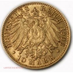 Allemagne - HAMBURG 10 MARK 1906 J Gold/ or 900/00