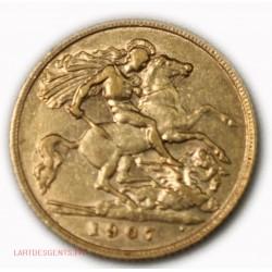 demi Souverain, half Souvereign Edward VII 1907, lartdesgents.fr
