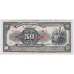 BILLET PEROU 50 SOLES 28 Septembre 1950 SUP L'ART DES GENTS AVIGNON NUMISMATIQUE