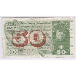 BILLET DE SUISSE 100 FRANCS 1956
