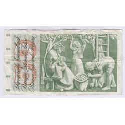 BILLET SUISSE 50 FRANCS 1972 NEUF L'ART DES GENTS NUMIMATIQUE AVIGNON