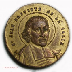 Médaille St Jean Batiste de la Salle LYON montée St Barthélemy