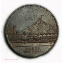 Médaille Francesco II  Maria Sofia GAETA 1860-1861 rare étain