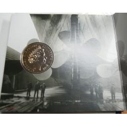 Coffret du TITANIC - The royal Mint avec une 5 £ de 2012, lartdesgents.fr