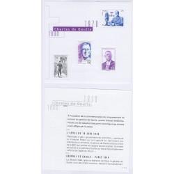 BLOC FEUILLET GENERAL DE GAULLE 1890-1970 NOUVEAUTE L'ART DES GENTS AVIGNON