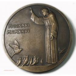 rare Médaille Saint François d'Assise SFAM N° 3, S.D. (1926) Paris
