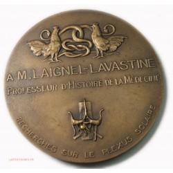 Médaille Pr. LAVASTINE recherche sur le plexus solaire 1937