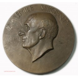 Médaille Pr. Emile SERGENT Par Henri DROPSY , lartdesgents.fr