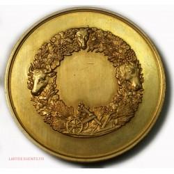 Médaille cuivre doré C.J.A. MATHIEU DE DOMBASLE