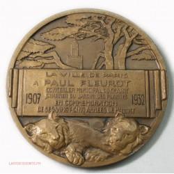 Médaille Paul FLEUROT jardin des plantes 1907-1932 par E. MONIER