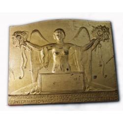 Médaille Plaque Bruxelles Expostion Universelle 1935