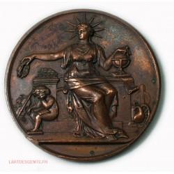 Médaille Caisse des écoles du VII arrondissement Paris 1889 par BONDELET