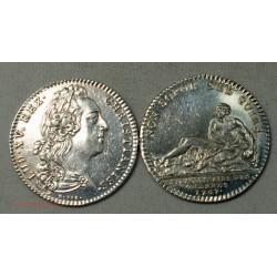 JETON Argent Louis XV Etraordinaires des guerres 1767 SPL/FDC