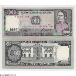 lot de 100 Billets de Bolivie 1000 Bolivianos 1982