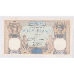 1000 Francs Cers et Mercure 18/07/40 (1000F028)