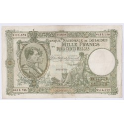 BILLET BELGIQUE 1000 FRANCS – 200 BELGAS 01-03-1937 L'art des gents AVIGNON