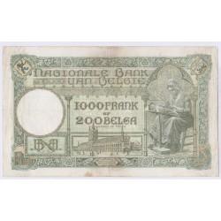 BILLET BELGIQUE 1000 FRANCS  14-09-1939 L'art des gents AVIGNON