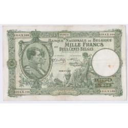 BILLET BELGIQUE 1000 FRANCS 05-08-1941 L'art des gents AVIGNON
