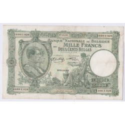BILLET BELGIQUE 1000 FRANCS 27-11-1941 L'art des gents AVIGNON