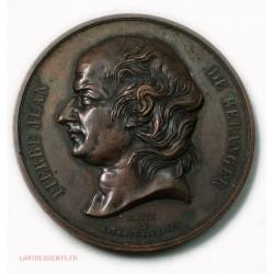 MEDAILLE Pierre Jean DE BERANGER 1833 par DAVID & BAUCHERY