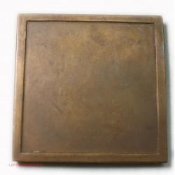 MEDAILLE carré plaque Art déco Femme nue par Marcel RENARD