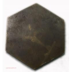 MEDAILLE exagonale plaque Art déco couple nus, lartdesgents.fr
