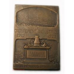 RARE Médaille plaque Louis SEBLINE fondateur cité Montescourt 1919-25