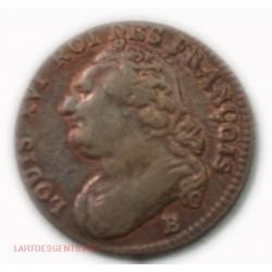 Louis XVI - 12 deniers 1792 B Rouen Fautée