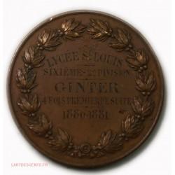 Médaille Lycée ST LOUIS 4fois premier de suite 1880-1881, par BRENET