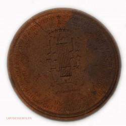 Revers de Médaille uniface Joseph HAYDN 1800 par N.Gatteaux