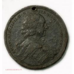 Médaille RUSSIE Pierre Ier le grand étain à Identifier